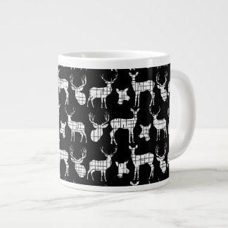 Rustic Silhouette Deer on Black Specialty Mug