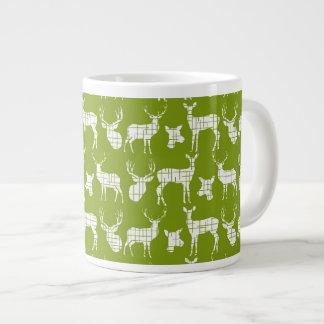 Rustic Silhouette Deer on Green Specialty Mug