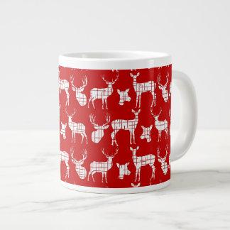 Rustic Silhouette Deer on Red Specialty Mug