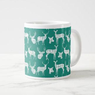 Rustic Silhouette Deer on Teal Specialty Mug