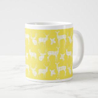 Rustic Silhouette Deer on Yellow Specialty Mug