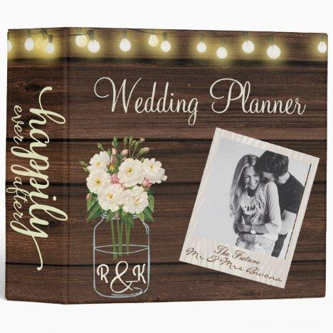 Rustic Simplicity  Wedding Planner 3 Ring Binder