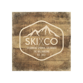 Rustic Ski Mountain Steamboat Springs Colorado Wood Print