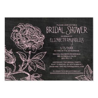 Rustic Slate Bridal Shower Invitations
