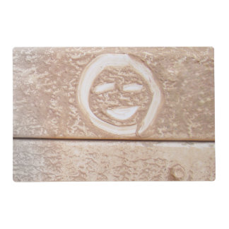 Rustic smile smiley face mud muddy dirt dirty face placemat