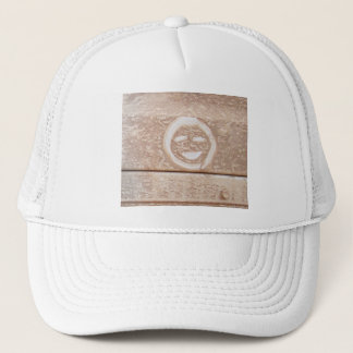 Rustic smile smiley face mud muddy dirt dirty face trucker hat