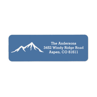 Rustic Snow Capped Mountains Custom Label