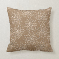 Rustic Snow | Kraft Holiday Decor Pillow