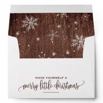 Rustic Snowflake Christmas Envelope