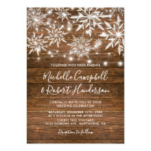 Rustic Snowflakes Barn Wood Winter Wedding