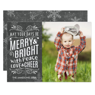 Rustic Snowflakes Holiday Photo Card