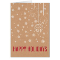 Rustic Snowflakes ornaments Holiday Cards