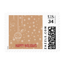 Rustic Snowflakes ornaments Holiday stamps