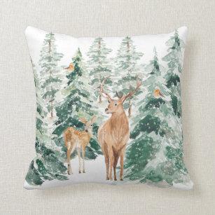 Woodland Christmas Decorative Throw Pillows Zazzle
