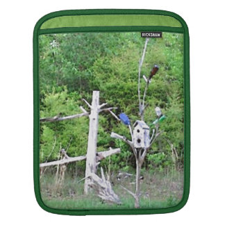 Rustic Southern Bottle Tree Knotted Pine Birdhouse iPad Sleeve