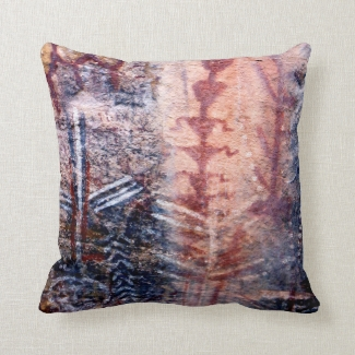 Rustic Southwest Ancient Pictograph Throw Pillow