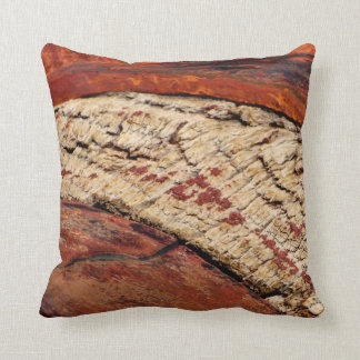 Rustic Southwest Red Brown Abstract Throw Pillow