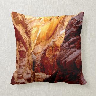Rustic Southwest Slot Canyon Nevada Square Pillow