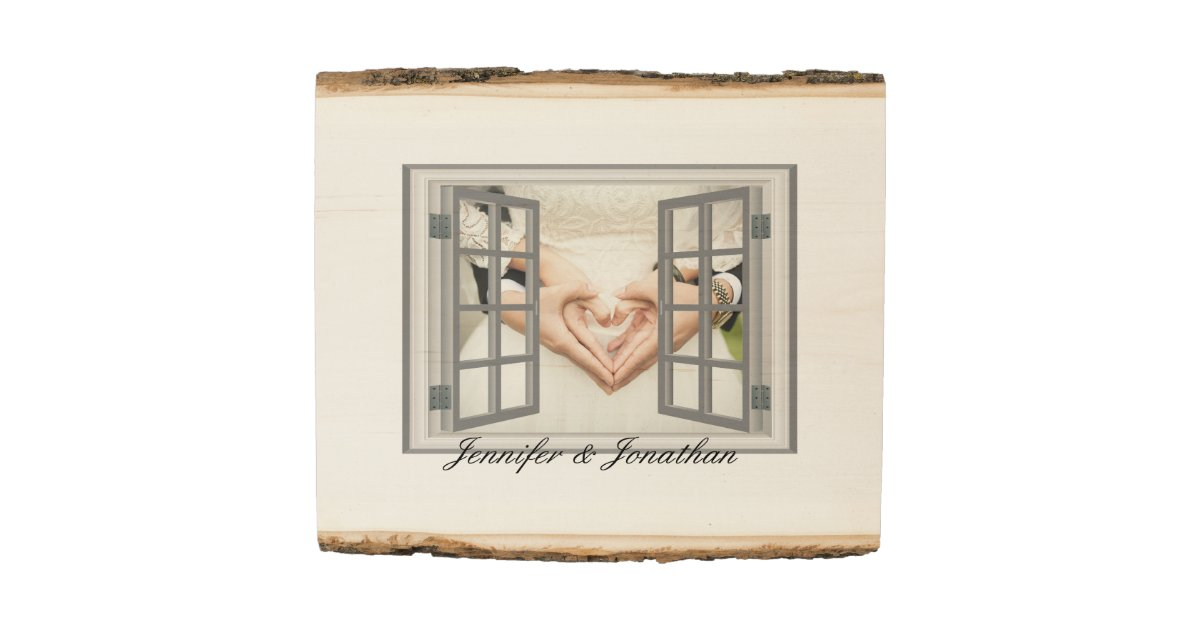 Rustic Specialized Faux Window Frame White Wood Panel | Zazzle.com
