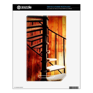 Rustic Spiral Staircase at Cabin Skin For The NOOK Color