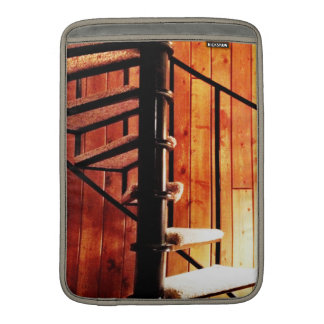 Rustic Spiral Staircase at Cabin Sleeve For MacBook Air