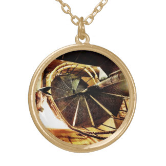 Rustic Spiral Staircase Necklace