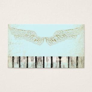 Rustic Spiritual Angel Wings Business Cards Card