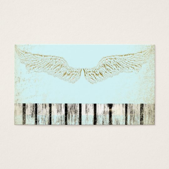 Rustic Spiritual Angel Wings Business Cards Card