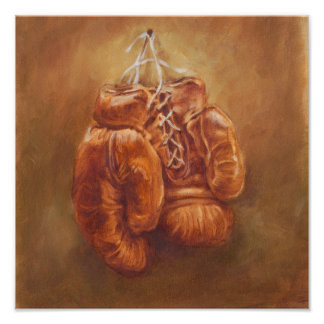 Rustic Sports | Boxing Glove Poster