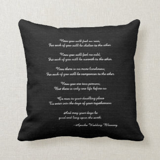 Rustic Square Pillow Apache Blessing Wedding Gift