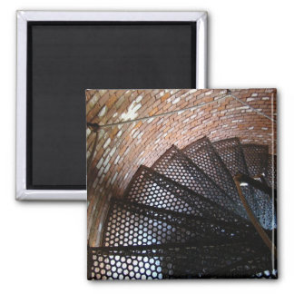 Rustic Staircase with Rope Handrail Magnet