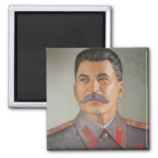 Rustic Stalin 2 Inch Square Magnet