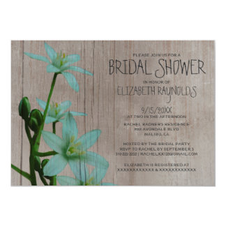 Rustic Star of Bethlehem Bridal Shower Invitations