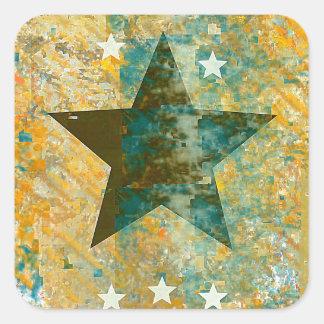 Rustic Star Square Sticker