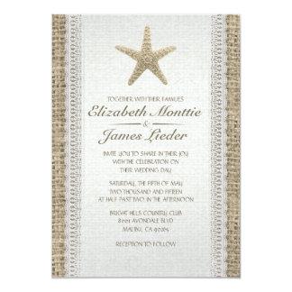 Rustic Starfish Beach Wedding Invitations Custom Announcements