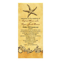 rustic starfish beach wedding program