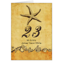 rustic starfish beach wedding table numbers