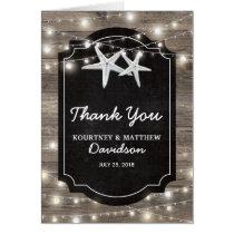 Rustic Starfish Beach Wedding Thank You Card