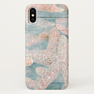 Rustic Starfish Teal Blue iPhone X Case