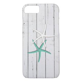 Rustic Starfish Weathered Wood iPhone 7 Case