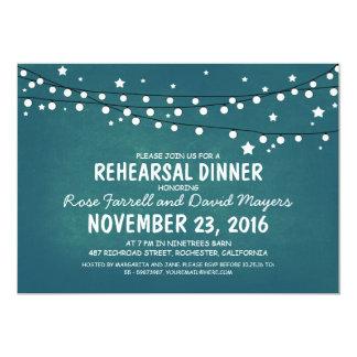Rustic Starry Night Lights Rehearsal Dinner Card