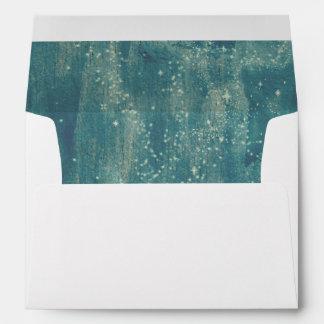 Rustic Starry Night Sky Envelope Return Address