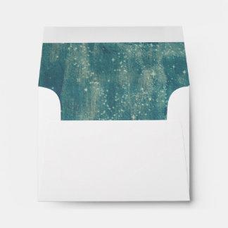 Rustic Starry Night Sky RSVP Note Card Envelope