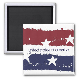Rustic Stars and Stripes USA Patriotic Magnet