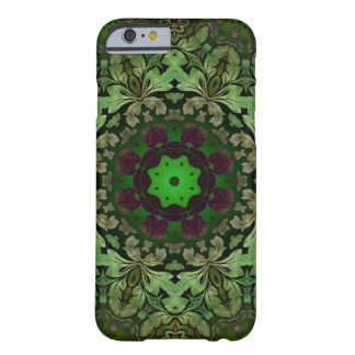 rustic steam punk green damask pattern barely there iPhone 6 case