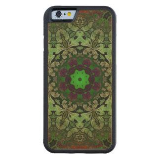 rustic steam punk green damask pattern carved® maple iPhone 6 bumper case