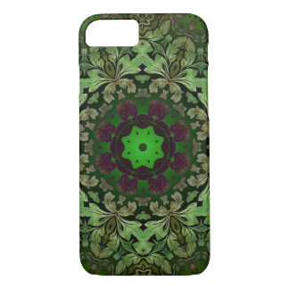 rustic steam punk green damask pattern iPhone 8/7 case