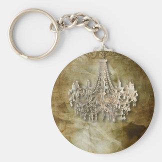 rustic steampunk vintage chandelier wedding keychain