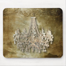 rustic steampunk vintage chandelier wedding mouse pad