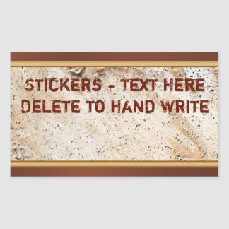 Rustic Stickers for YOUR TEXT, Hand Write Text